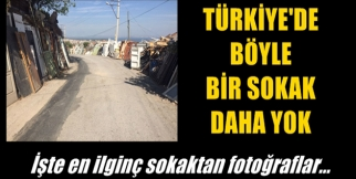 Türkiye'de Böyle Bir Sokak Daha Yok! İşte Fotoğrafları