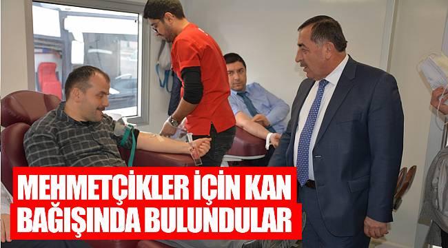 Mehmetçikler için kan bağışında bulundular