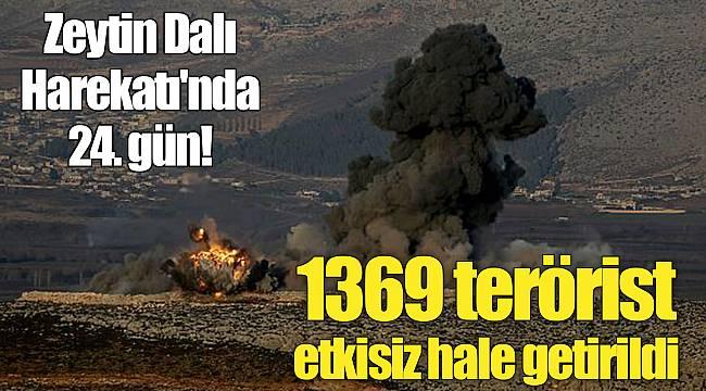 Zeytin Dalı Harekatı'nda 24. gün!
