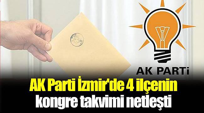 AK Parti İzmir'de 4 ilçenin kongre takvimi netleşti