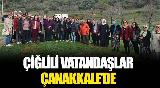 ÇİĞLİLİ VATANDAŞLAR ÇANAKKALE'DE
