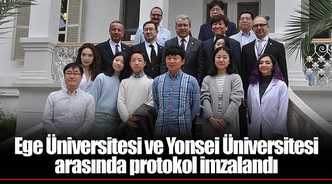 Ege Üniversitesi ve Yonsei Üniversitesi arasında protokol imzalandı