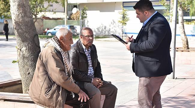 Bornova'da Proje Tanıtım Ekibi, vatandaşlarla sürekli iletişimde