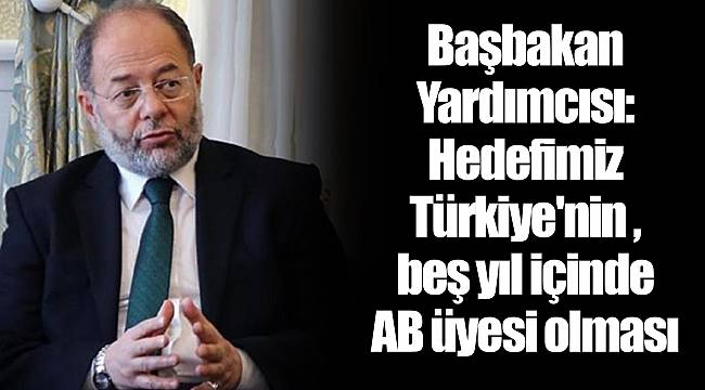 Başbakan Yardımcısı: Hedefimiz Türkiye'nin beş yıl içinde AB üyesi olması
