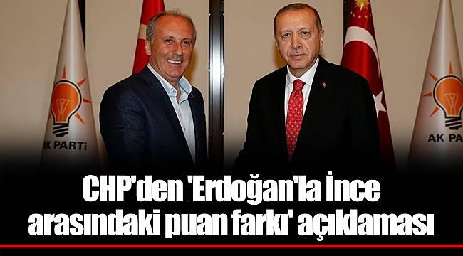 CHP'den 'Erdoğan'la İnce arasındaki puan farkı' açıklaması