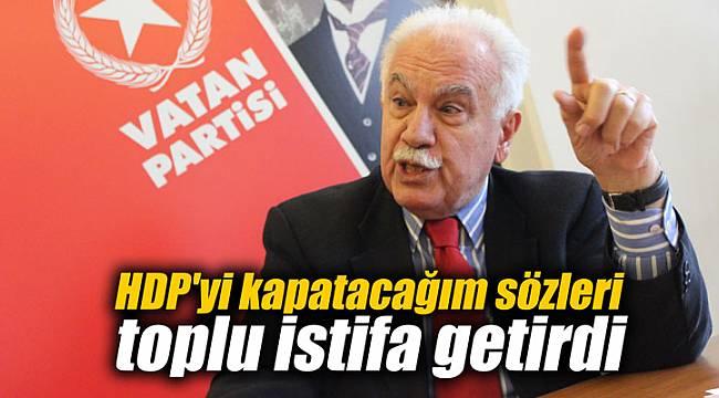 HDP'yi kapatacağım sözleri toplu istifa getirdi