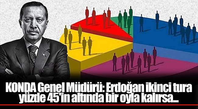 KONDA Genel Müdürü: Erdoğan ikinci tura yüzde 45'in altında bir oyla kalırsa...