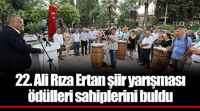 22. Ali Rıza Ertan şiir yarışması ödülleri sahiplerini buldu