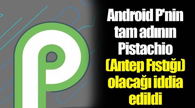 Android P'nin tam adının Pistachio (Antep Fıstığı) olacağı iddia edildi