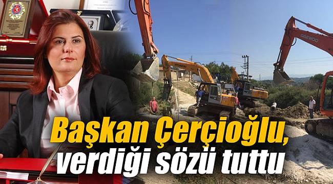 Başkan Çerçioğlu, verdiği sözü tuttu