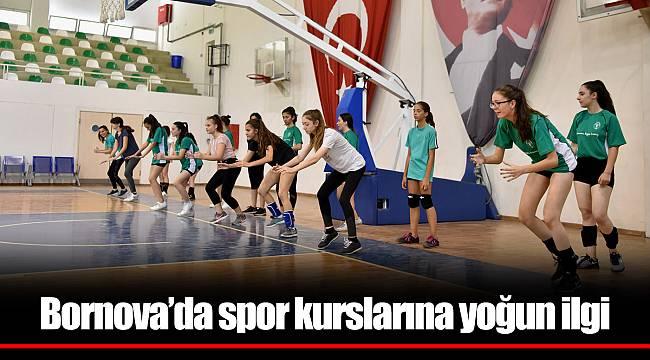 Bornova'da spor kurslarına yoğun ilgi