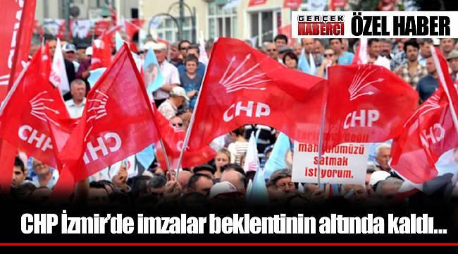 CHP İzmir'de imzalar beklentinin altında kaldı…