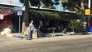 Foça Bağarası'nda pazar tepkisi