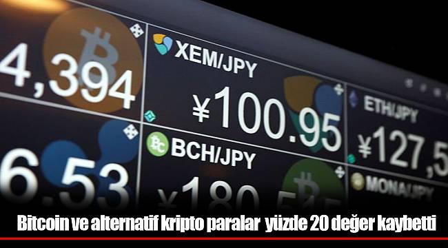 Bitcoin ve alternatif kripto paralar iki haftada yüzde 20 değer kaybetti