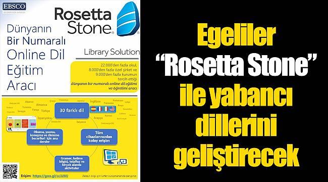 """Egeliler """"Rosetta Stone"""" ile yabancı dillerini geliştirecek"""