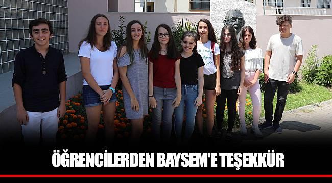 ÖĞRENCİLERDEN BAYSEM'E TEŞEKKÜR