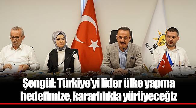 Şengül: Türkiye'yi lider ülke yapma hedefimize, kararlılıkla yürüyeceğiz