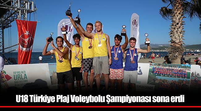 U18 Türkiye Plaj Voleybolu Şampiyonası sona erdi