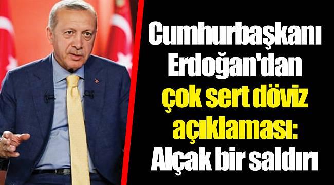 Cumhurbaşkanı Erdoğan'dan çok sert döviz açıklaması: Alçak bir saldırı