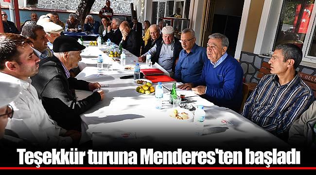Teşekkür turuna Menderes'ten başladı