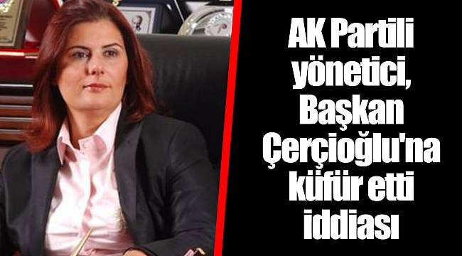 AK Partili yönetici, Başkan Çerçioğlu'na küfür etti iddiası