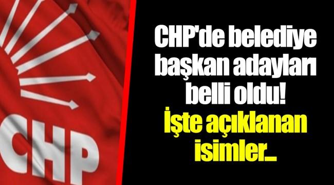 CHP'de belediye başkan adayları belli oldu! İşte açıklanan isimler...