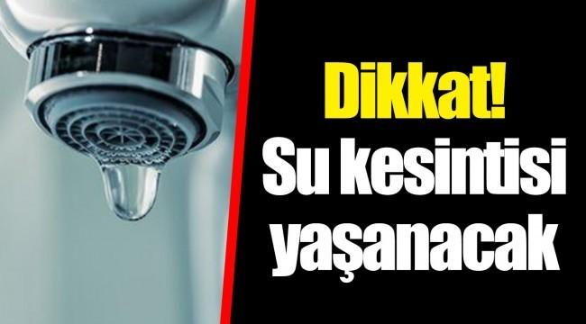Çiğli'de su kesintisi