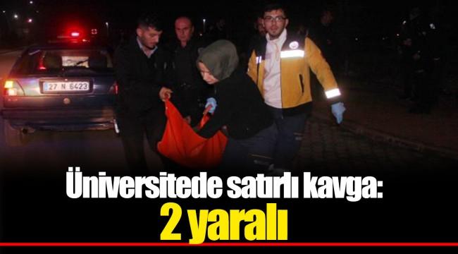 Üniversitede satırlı kavga: 2 yaralı