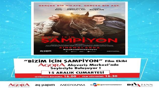Yılın filmi Şampiyon'un başrol oyuncuları İzmir'de