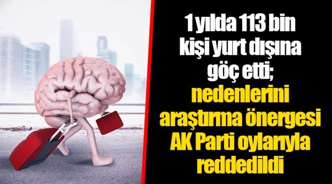 1 yılda 113 bin kişi yurt dışına göç etti; nedenlerini araştırma önergesi AKP oylarıyla reddedildi