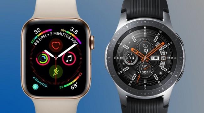 Apple Watch Series 4 ile Samsung Galaxy Watch karşı karşıya