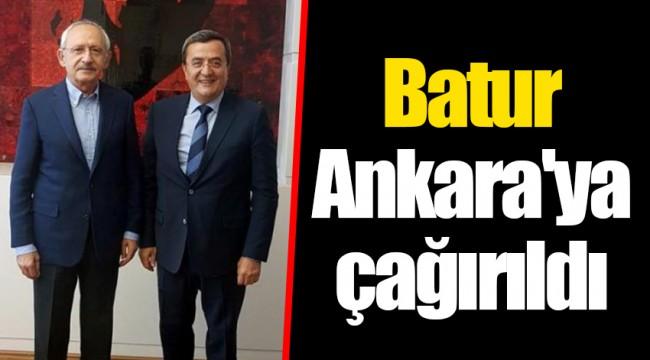 Batur Ankara'ya çağırıldı