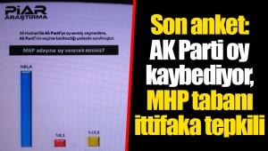 Son anket: AK Parti oy kaybediyor, MHP tabanı ittifaka tepkili