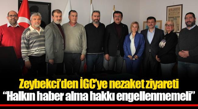 Zeybekci'den İGC'ye nezaket ziyareti;