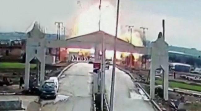 Çobanbeyli sınır kapısının Suriye tarafında şiddetli patlama