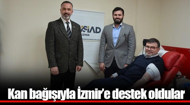 Kan bağışıyla İzmir'e destek oldular