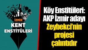 Köy Enstitüleri: AKP İzmir adayı Zeybekci'nin projesi çalıntıdır