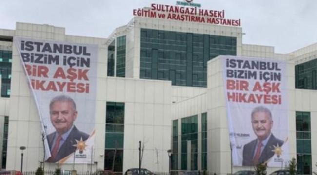 Devlet hastanesinde tepki çeken afişler!