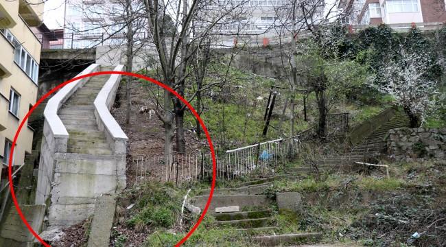 Sonu tamamlanmayan merdiven Karadeniz fıkralarını aratmıyor