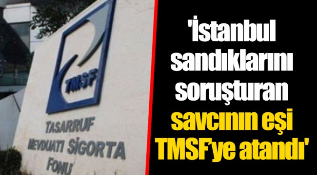'İstanbul sandıklarını soruşturan savcının eşi TMSF'ye atandı'