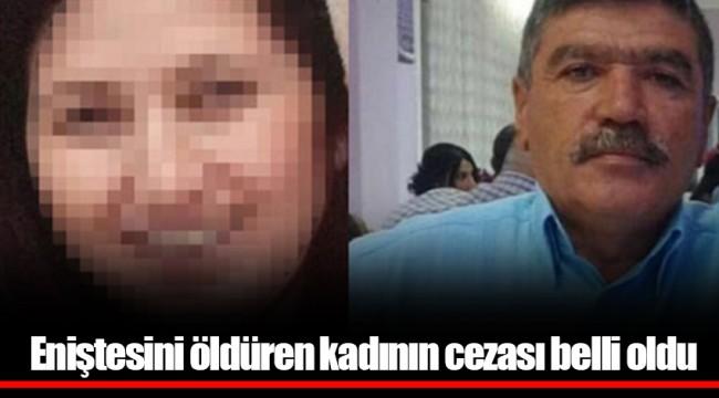 Eniştesini öldüren kadının cezası belli oldu