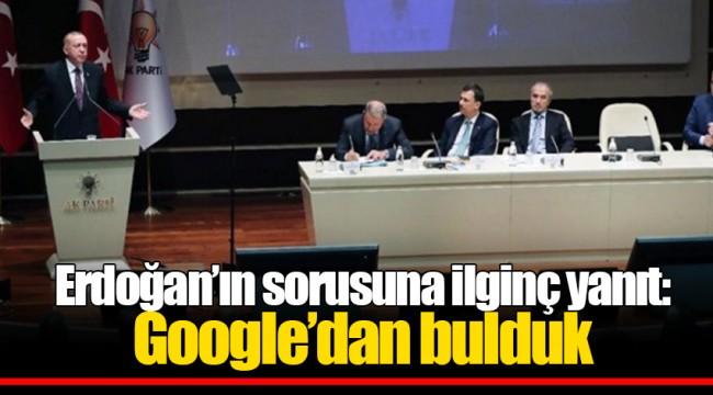Erdoğan'ın sorusuna ilginç yanıt: Google'dan bulduk