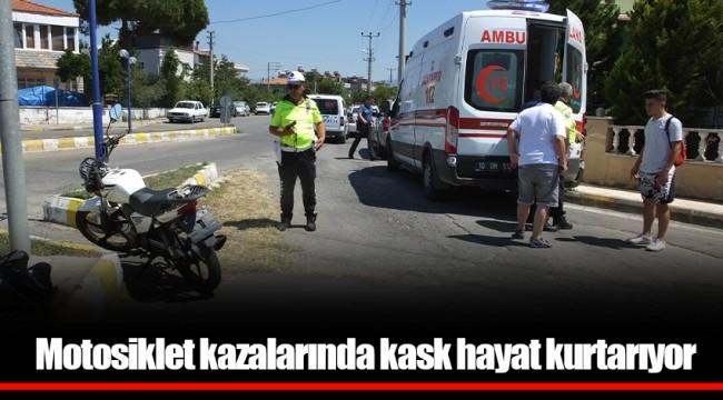 Motosiklet kazalarında kask hayat kurtarıyor