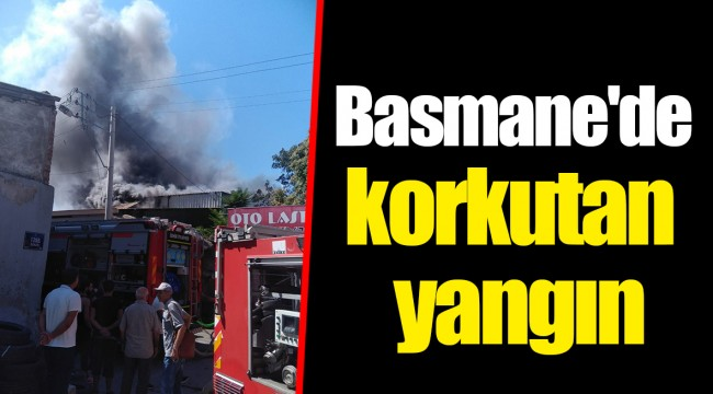 Basmane'de korkutan yangın