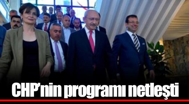 CHP'nin programı netleşti