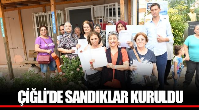 ÇİĞLİ'DE SANDIKLAR KURULDU