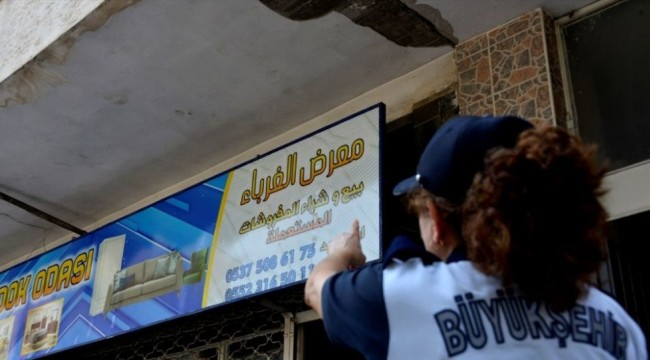 Mersin'de Arapça tabela denetimi