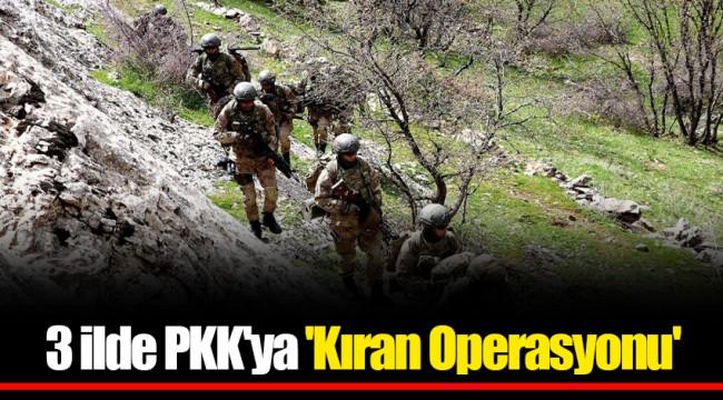 3 ilde PKK'ya 'Kıran Operasyonu'