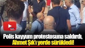 Polis kayyum protestosuna saldırdı, Ahmet Şık'ı yerde sürükledi!