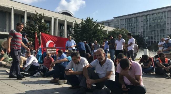 İBB önündeki eylem 18. gününde: 'Hepimizin ekmek derdi var, başka bir şey yok'